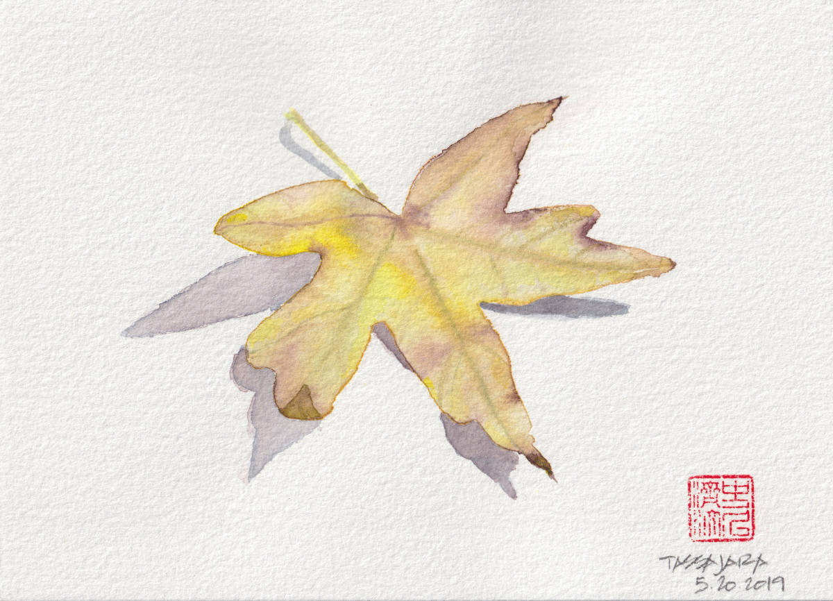 Leaf. Tassajara - watercolor illustration