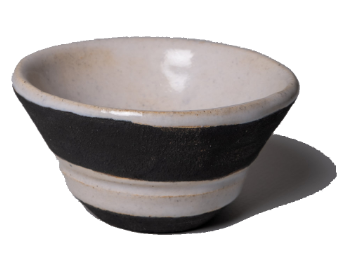 Thrown Bowl - White & Black.ceramic sculpture